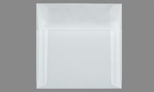 TRANSLUCENT VELLUM ENVELOPES AND PAPER Clear 7-1/2 x 7-1/2