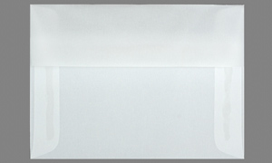TRANSLUCENT VELLUM ENVELOPES AND PAPER Clear A7  5-1/4 x 7-1/4