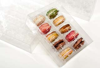 COOKIE BOXES WITH INSERT Clear 2-9/16 x 7-1/2 x 2