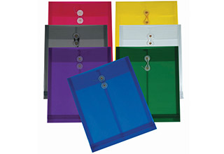 Poly String Top Open Envelopes Assorted 9-3/4 x 11-3/4 x 1-1/8