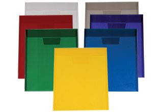 Poly Tuck-In Top Open Envelopes Assorted 10 x 11-3/4