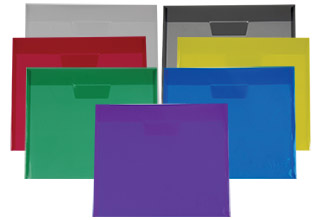 Poly Tuck-In Side Open Envelopes Assorted 11-5/8 x 9-7/8