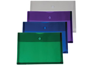 Poly Velcro Side Open Gusset Envelope Assorted 14-1/2 x 10-1/4 x 1-1/4