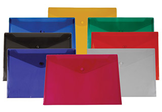 Poly Snap Side Open Envelopes Assorted 13 x 9-1/4