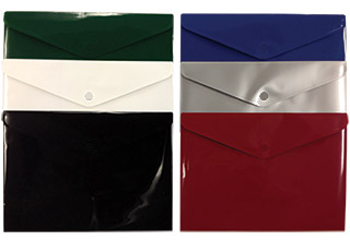 Poly Snap Confidential Side Open Envelopes Assorted 13 x 9-1/4