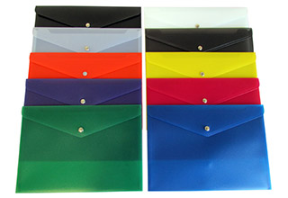 Poly Snap Premium Side Open Envelopes Assorted 13-1/8 x 9-1/4