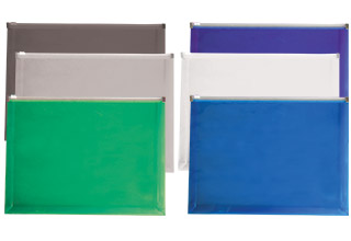 Poly Zip Gusset Envelopes Assorted 12-3/4 x 9-1/2 x 1