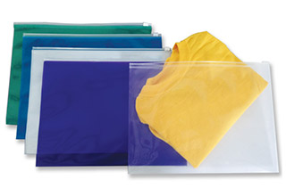 Poly Zip No Gusset Envelopes Assorted 12-3/4 x 9-1/2
